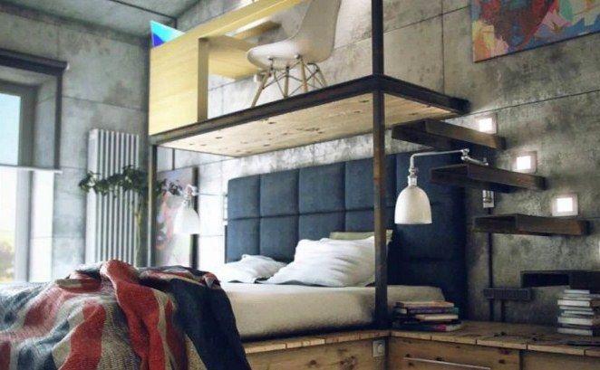 ⊕ 21+ ide dekorasi kamar tidur minimalis dengan desain kreatif dan unik