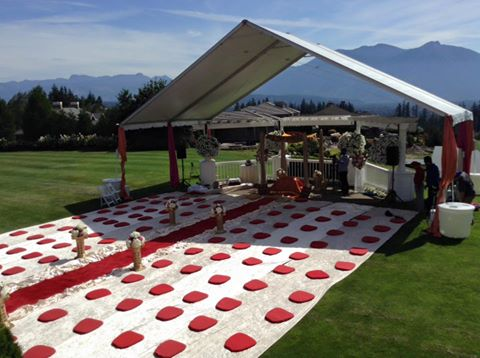 Outdoor Sikh Wedding with tent in Seattle
