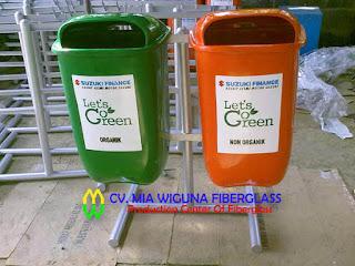 tong sampah organik dan anorganik