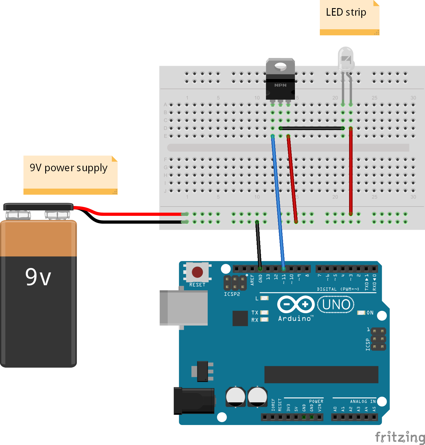 Driving A Led Strip With Arduino Yet Another Blog Dimmer Circuit Code