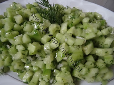 Sałatka z zielonego ogórka