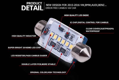 27dbf3caaf9 Philips Style C5W 39MM LED 6SMD CANBUS PIRNIKOMPLEKT 6000K-6500K