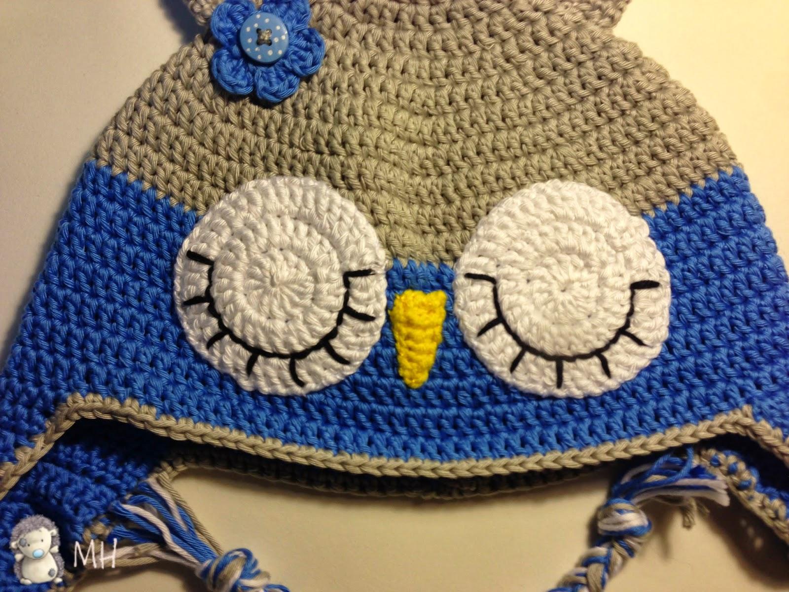 ojos de gorro búho a crochet
