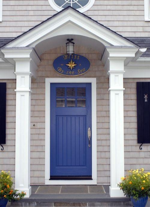 Blue Front Doors with Coastal Curb Appeal - Coastal Decor Ideas and ...