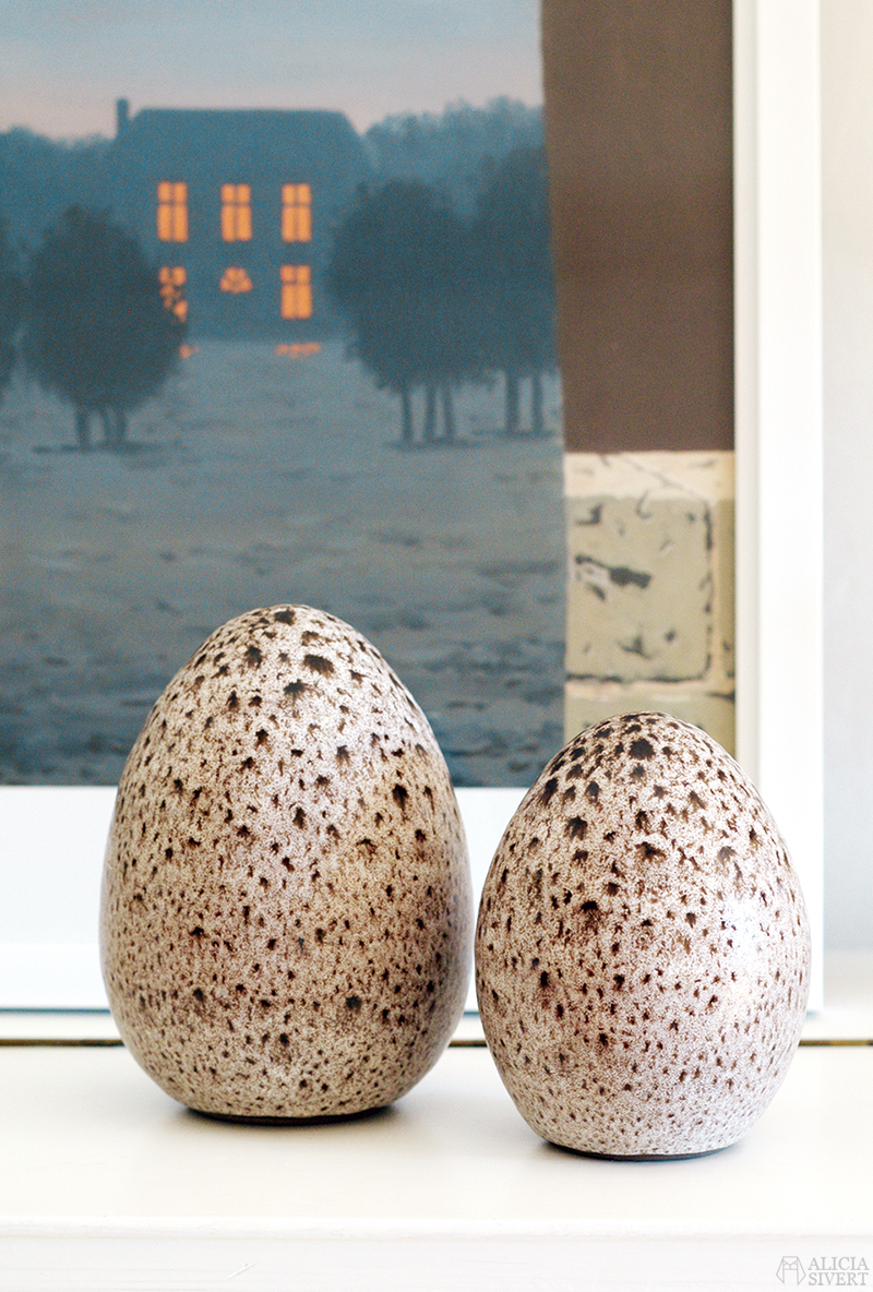 norrman motala keramik ceramic eggs egg ägg keramikägg loppis second hand begagnat tradera thrift easter påskpynt påsk pynt