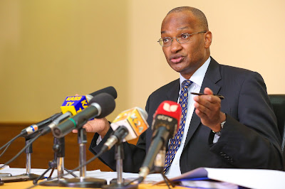Patrick njoroge addresses the media after mpc meeting