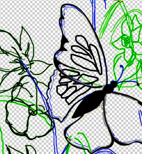 Cara membuat Kupu-kupu Cantik ~ Belajar Photoshop