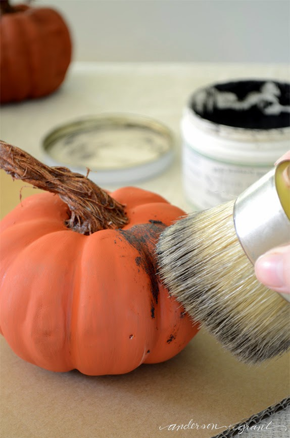 DIY Pumpkins with Realistic Looking Stems | www.andersonandgrant.com