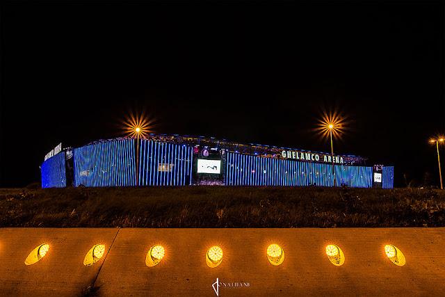 Ghelamco Arena bij nacht