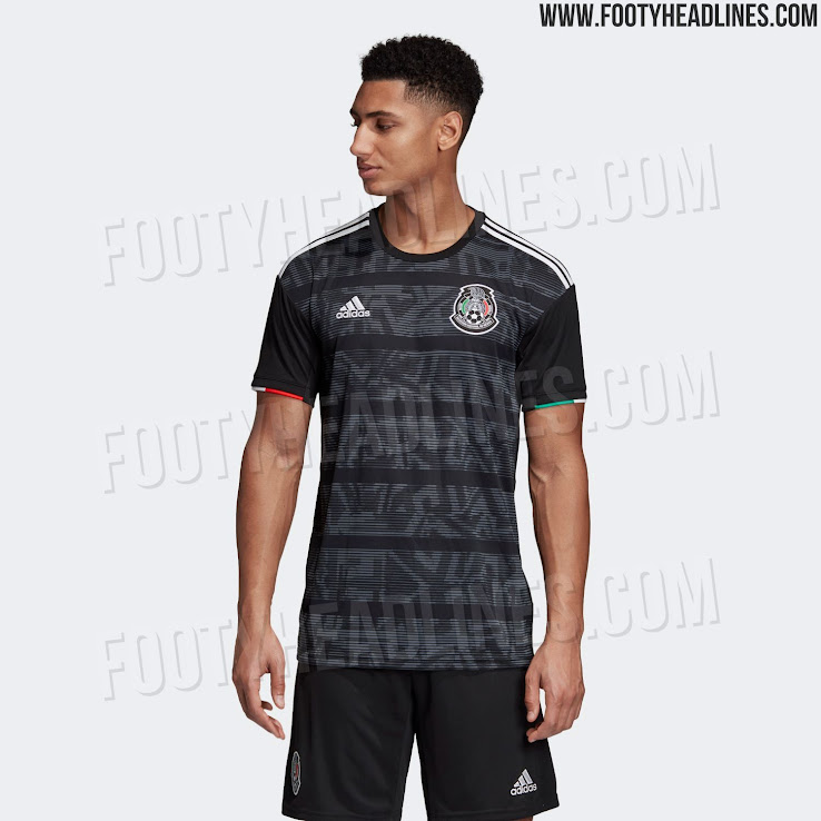21c476174 Black Adidas Mexico 2019 Gold Cup Kit Released - Footy Headlines