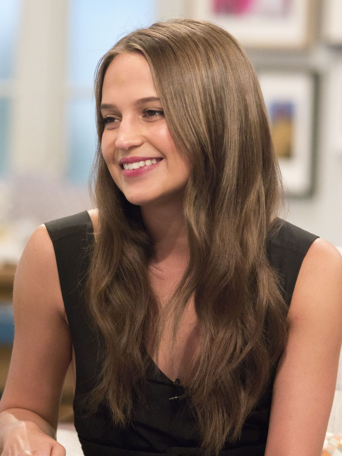 Full HQ Photos of Alicia Vikander On The Set Of Lorraine Show In London