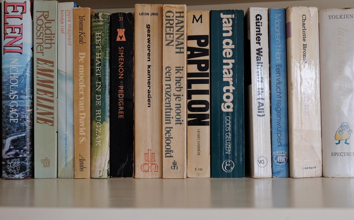 Boekenplank Met Boeken.Op Mijn Boekenplank