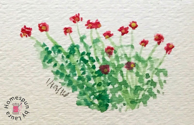 wildflowers watercolor Daily Doodle