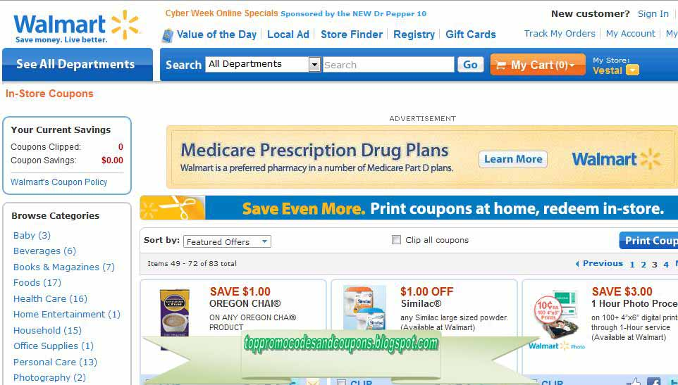 photo regarding Similac Coupons Printable Walmart identified as Cost-free Promo Codes and Coupon codes 2019: Walmart Coupon codes