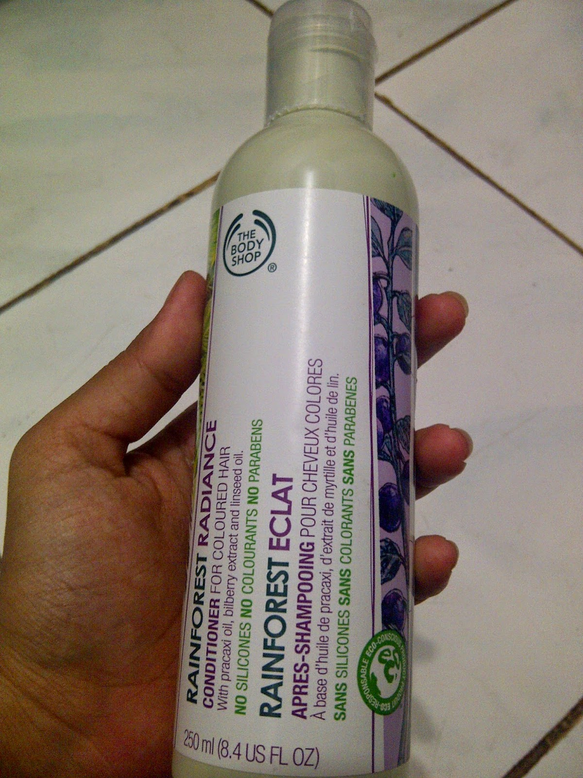The Body Shop Rainforest Radiance conditioner, solusi rambut lepek