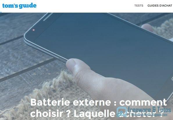 Le site du jour : comparatif des meilleures batteries externes