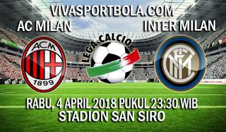 Prediksi AC Milan vs Inter Milan 4 April 2018