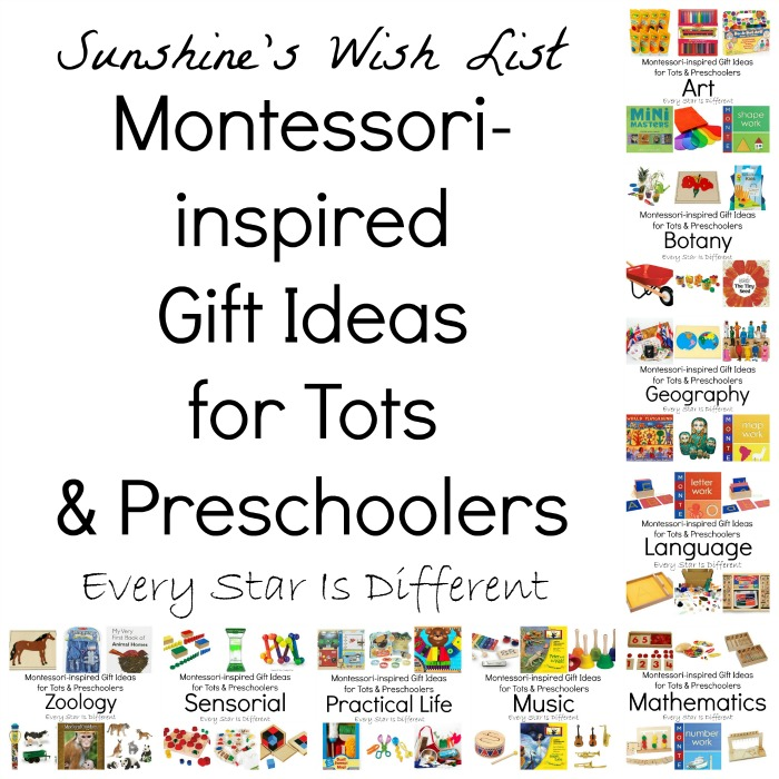 Montessori-inspired Gift Ideas for Tots and Preschoolers