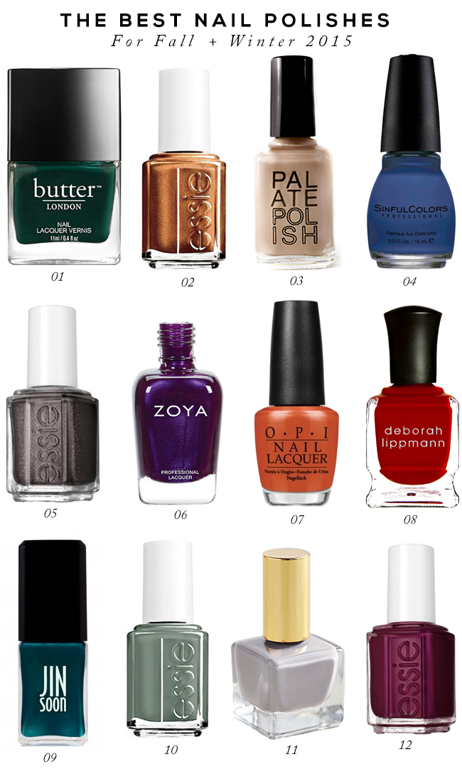 The Best Nail Polishes for Fall and Winter 2015-2016 (via Bubby and Bean)