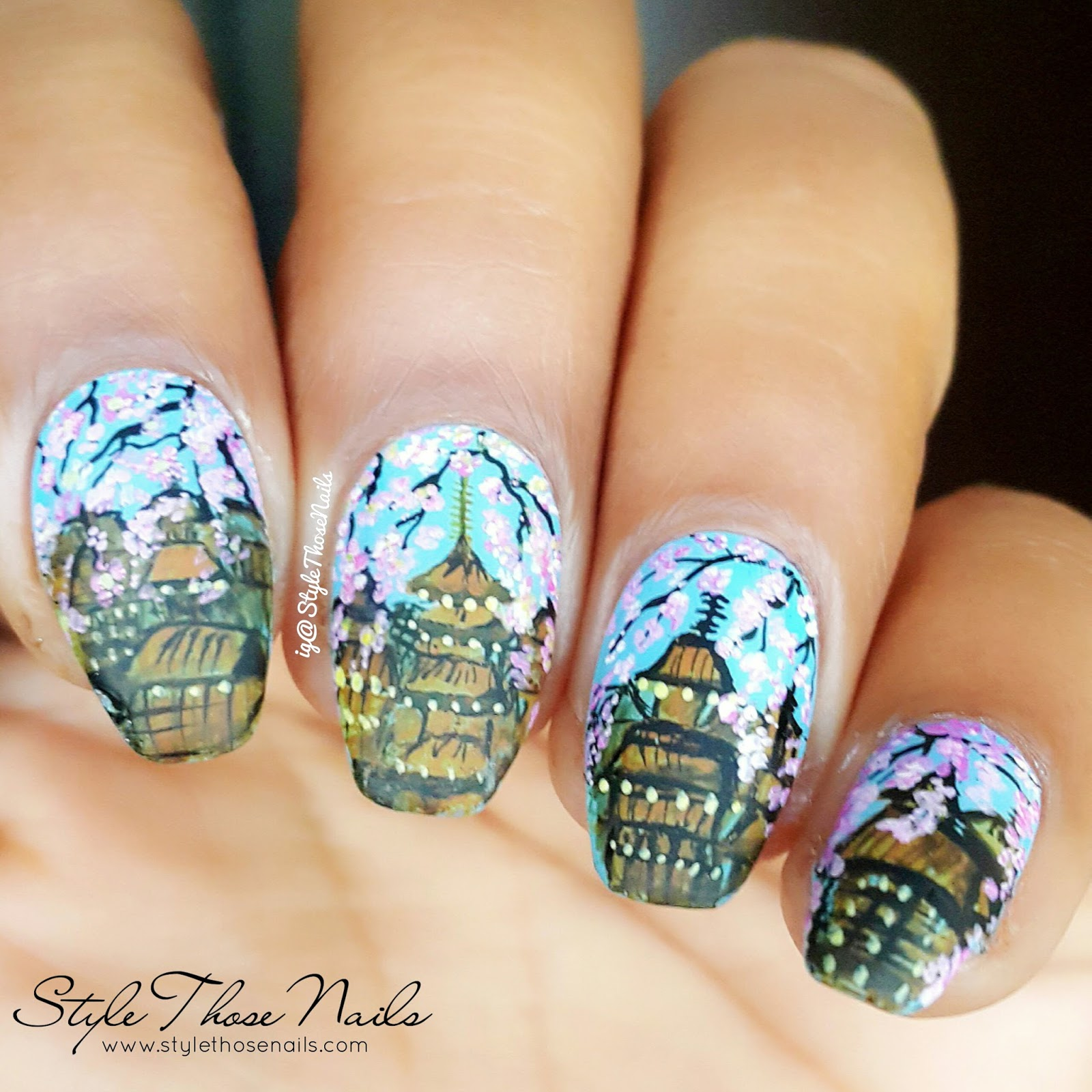 Style those nails geisha and cherry blossom nail art spring i have tutorial linked at the end of the post also find the collage of spring nail designs by instagram nail buddies below enjoy prinsesfo Gallery