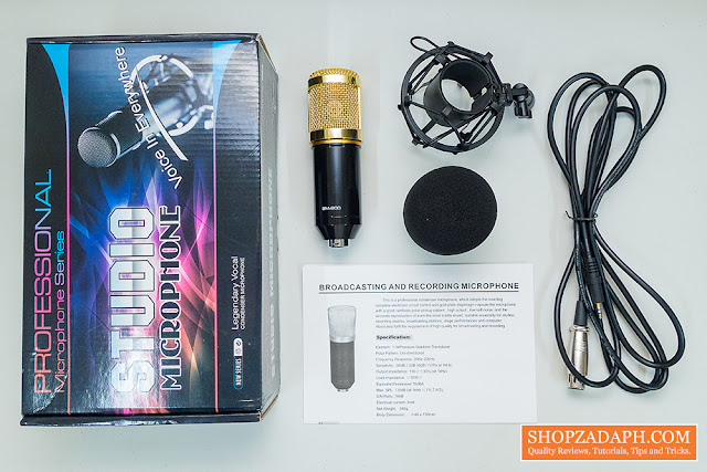 bm 800 condenser microphone unboxing