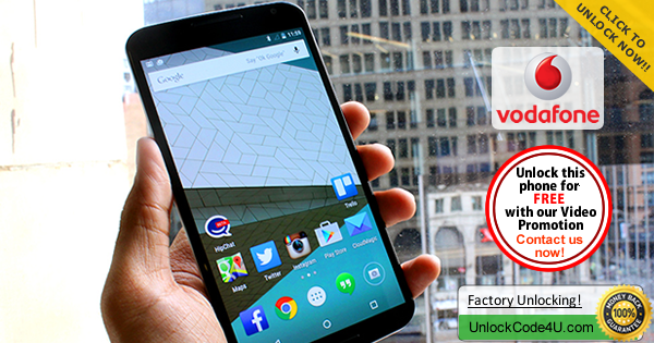 Factory Unlock Code for Motorola Nexus 6 from Vodafone