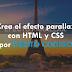 Crea el efecto parallax con HTML y CSS por PURITO CODIGO