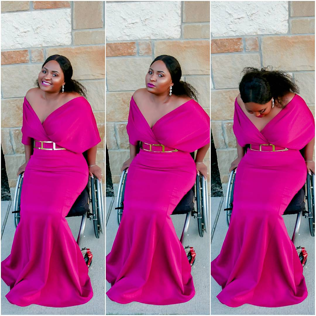 Curvaceous Boutique - Dream Dress in Magenta (Plus size