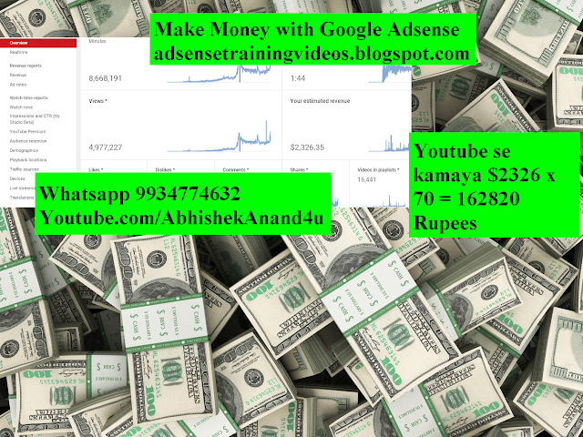 Youtube se kamaya 162820 Rupees 30 March 2019 | Youtube income proof 30 March 2019 | Ghar se paise kaise kamaye | ghar se income kaise kare | homebased work