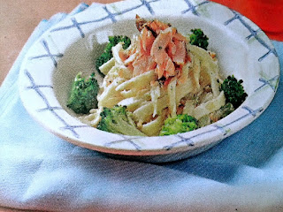 Gambar Resep Pasta Fettuccine Salmon Saus Alfredo