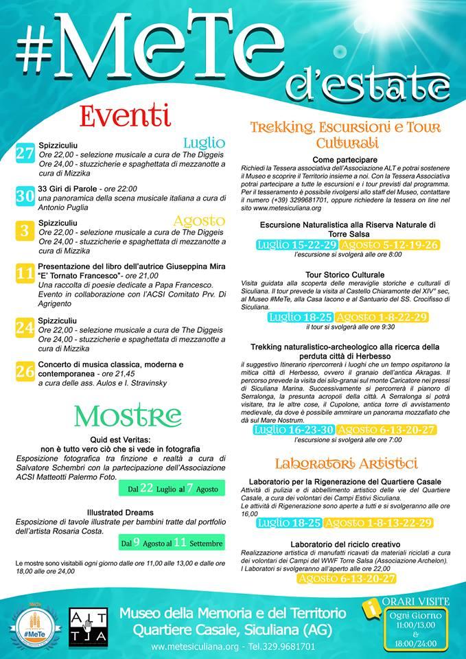 #MeTe d'Estate: eventi estivi al Museo di Siculiana