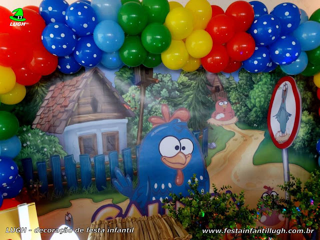 Mesa decorada infantil Galinha Pintadinha