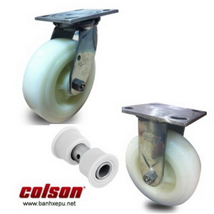 Bánh xe đẩy hàng inox bánh xe Nylon chịu tải trọng (295~450kg)