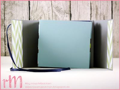 """Stampin' Up! rosa Mädchen Kulmbach: Minialbum """"Pixel"""" mit Strohhalmbindung nach einer Idee von Renate Ecklmayr (Schnipseldesign)"""