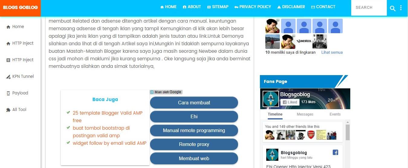 Cara Membuat Related Post Dan Adsense Di Tengah Artikel Valid AMP Terbaru