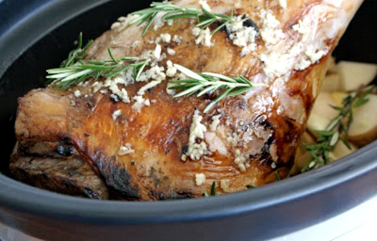 The BEST Recipes for Easter Leg of Lamb in the Slow Cooker found on SlowCookerFromScratch.com