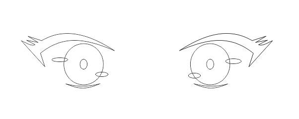 Desain Mata Anime corel draw