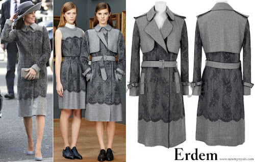 Kate Middleton wore Erdem coat - The coat is from the Pre-Fall 2015 collection