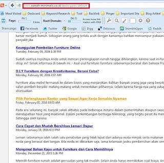Cara Mudah Mendapatkan Alamat RSS Feed Blog Atau Website