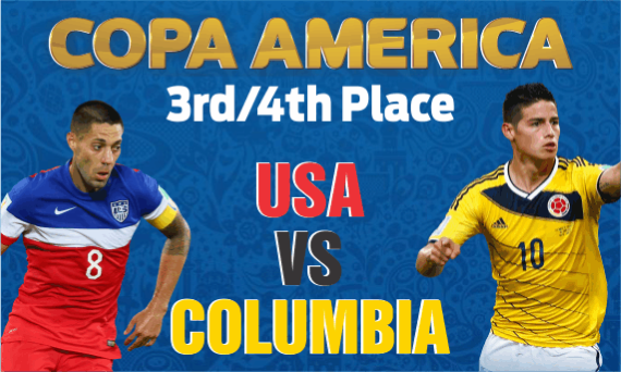 Copa America Centenario hosts USA will take on Colombia in the third-fourth place match