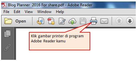 Cara setting printer di adobe reader