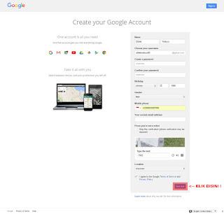 Langkah Kelima Cara Buat Email Gmail