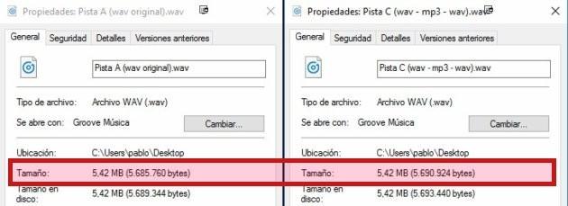 Cómo (no) usar Audacity y Spek para llegar a conclusiones erróneas Wav_size