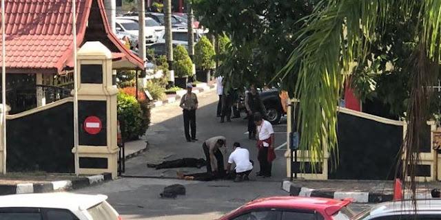 Viral Detik-detik Polisi Lumpuhkan Teroris di Mapolda Riau Hingga Mereka Tewas Terkapar