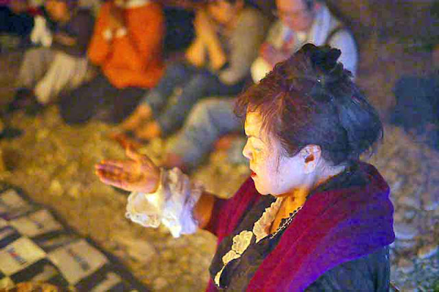 An Okinawan Priestess, Kouri-jima, prayer, cave, rituals