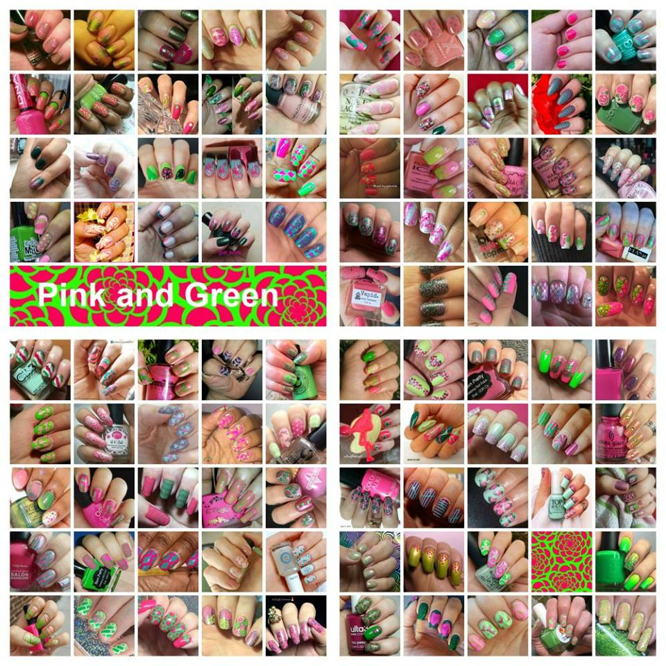 When Colors Collide: green and pink