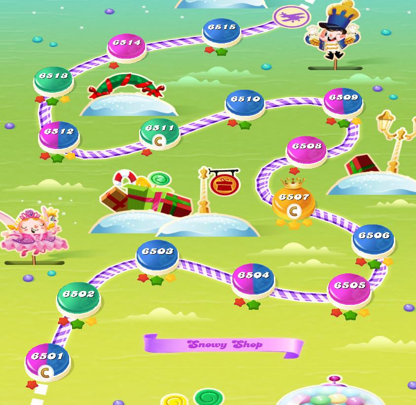 Candy Crush Saga level 6501-6515