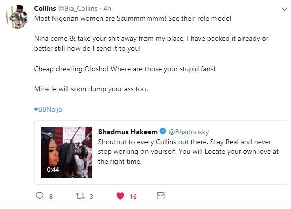 Nina BB Naija Collins