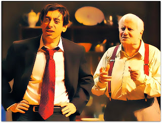 Cassio Scapin e Paulo Autran na peça Visitando o Sr. Green