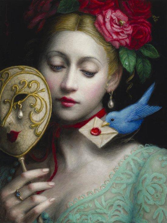 Chie Yoshii arte pinturas a óleo mulheres clássicas fantásticas surreal beleza